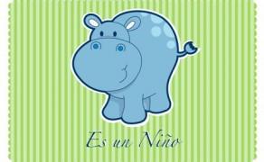 Invitación Hipopótamo Niño